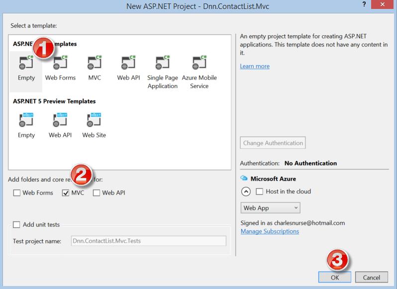 Module Development in DNN 8: 1–Introduction to MVC modules