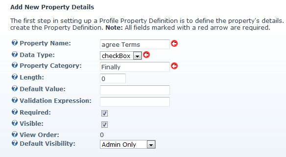 User Profile Property Definition