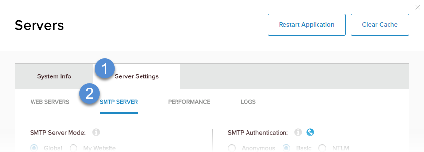 Configure the SMTP Server
