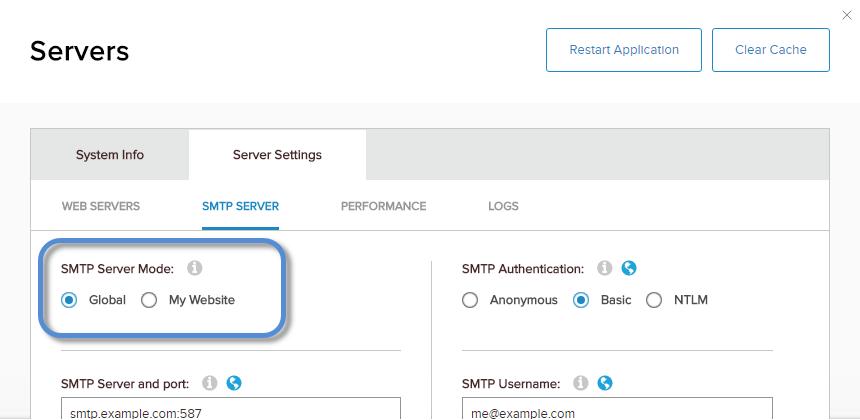 Configure the SMTP Server