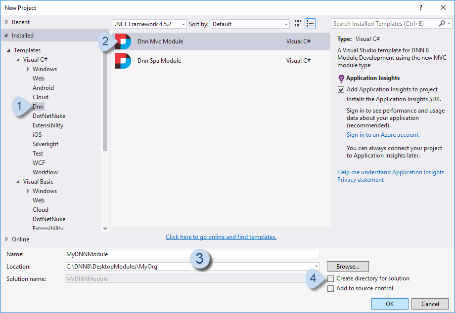 Start a Visual Studio Project with Templates