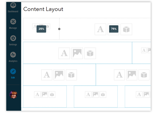 apply content layout to a page