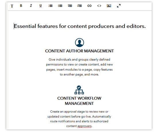 WYSIWYG Editor | Evoq by DNN (DotNetNuke)
